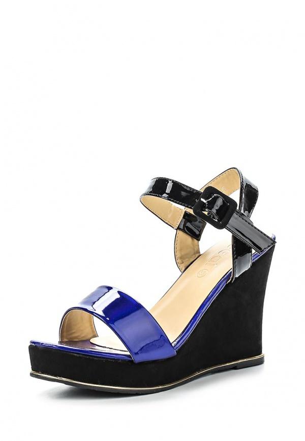 Босоножки Ideal FL-5802 синие, чёрные