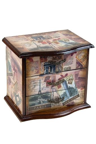 """Шкатулки для украшений Красный куб Шкатулка для ювел. украш. """"Мемуары"""""""