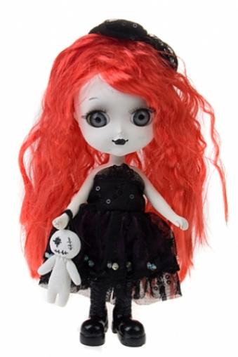 """Куклы ведьмы Красный куб Кукла декоративная """"Ведьмочка с рыжими волосами"""""""