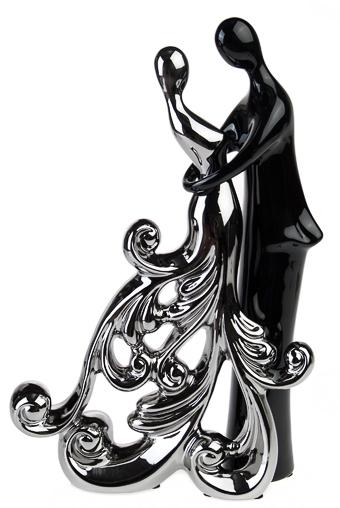 """Керамические статуэтки Красный куб Набор украшений для интерьера """"Танец любви"""""""
