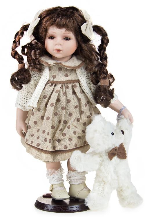 """Текстильные игрушки Красный куб Кукла """"Малышка с косичками"""""""