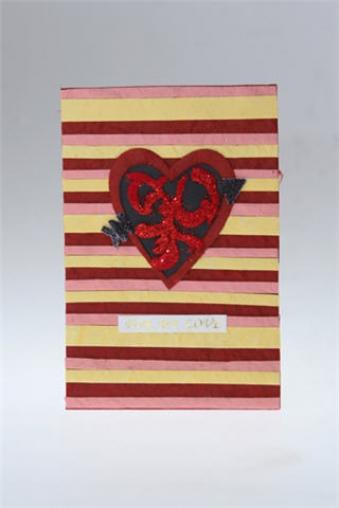 """Открытки ручной работы Красный куб Открытка подарочная """"Сердце с узором"""""""