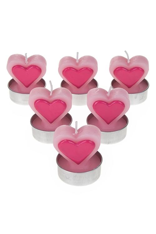 """Декоративные свечи Красный куб Набор свечей-таблеток """"Сердце в сердце"""""""