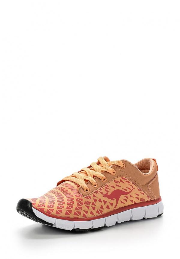 Кроссовки KangaROOS 8005A жёлтые, розовые