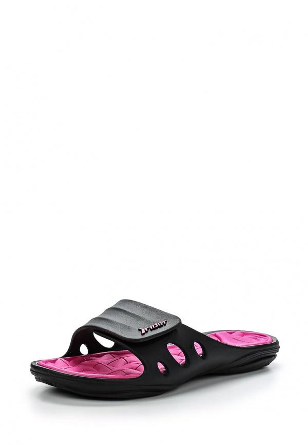 Сланцы Rider 81456-23757-A розовые, чёрные