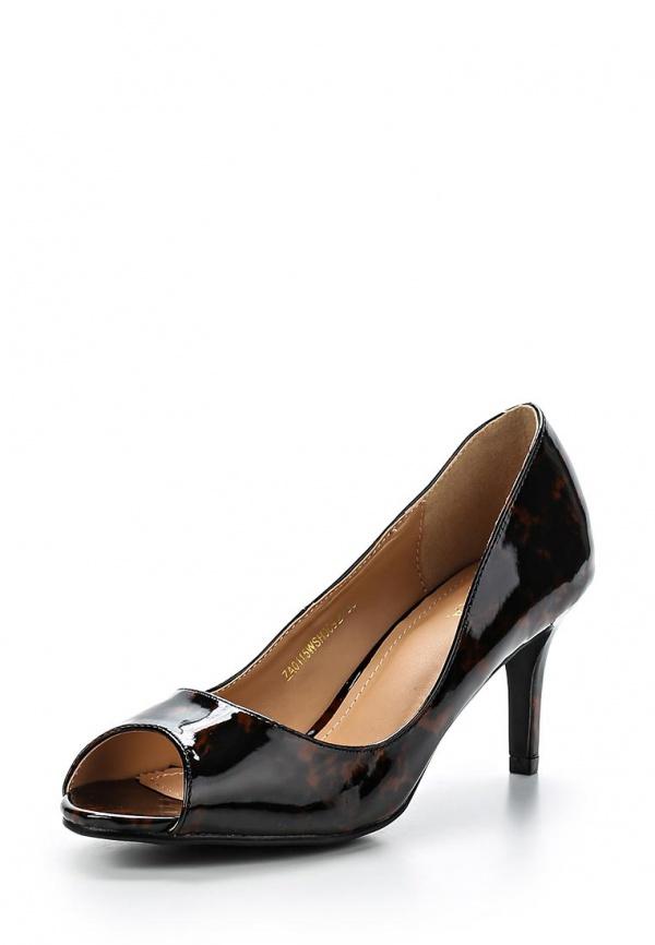Туфли Zalora ZA0115WSH0092D коричневые