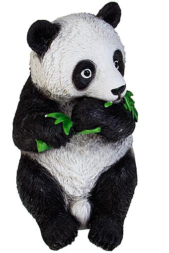 """Садовые фигурки Красный куб Фигурка садовая """"Панда с бамбуком"""""""