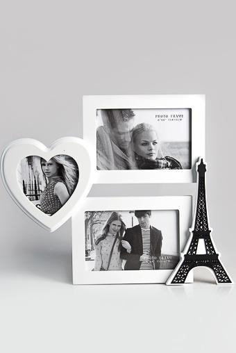 """Рамки для нескольких фото Красный куб Рамка для 3-х фото """"Любимый Париж"""""""