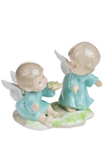 """Фигурки на Новый Год Красный куб Фигурка """"Милые ангелочки"""""""