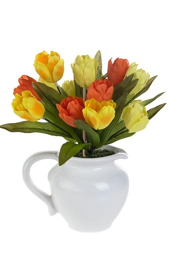 """Декоративные цветы Красный куб Композиция декоративная """"Тюльпаны"""""""