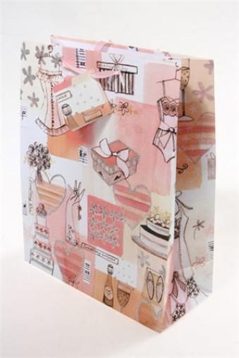 """Пакеты на любой повод Красный куб Пакет подарочный """"Только для женщин"""""""