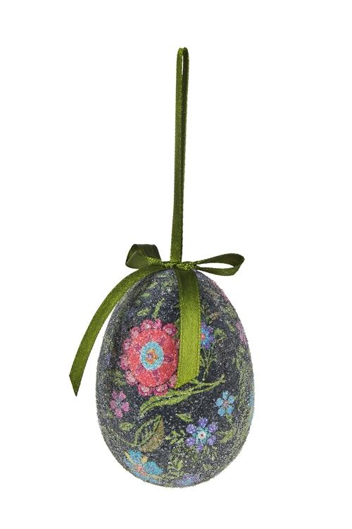 """Декоративные гирлянды и подвески Красный куб Украшение декор. """"Яйца в цветах"""""""