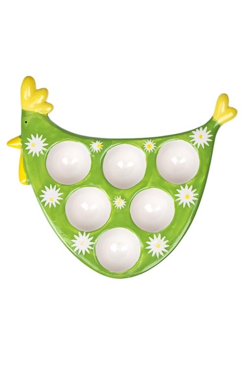 """Подставки для яиц Красный куб Блюдо для 6-ти яиц """"Курочка"""""""