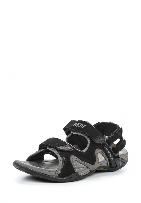 Сандалии Ascot SL 9390 CAMEL чёрные