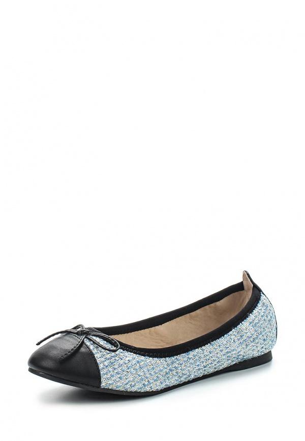 Балетки Dorothy Perkins 19933750 голубые, чёрные