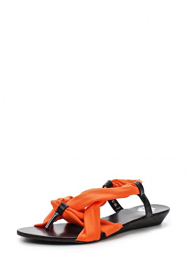 Сандалии Doca 71892 оранжевые, чёрные