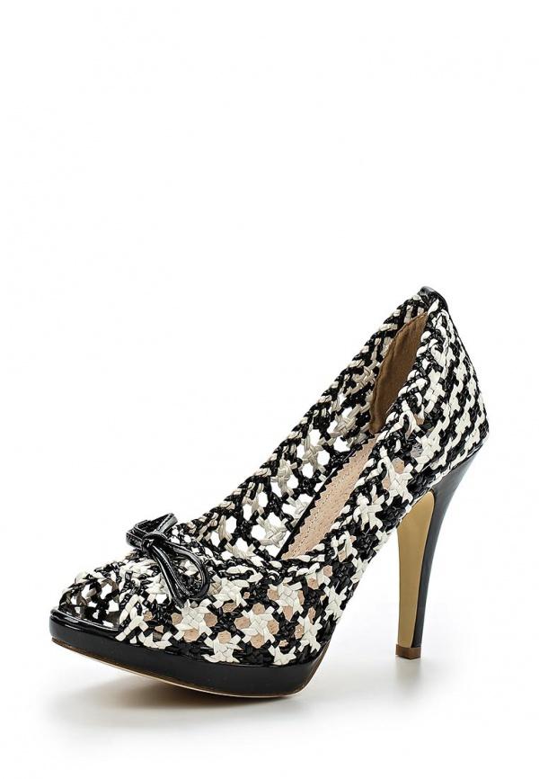 Туфли Doca 72181 белые, чёрные