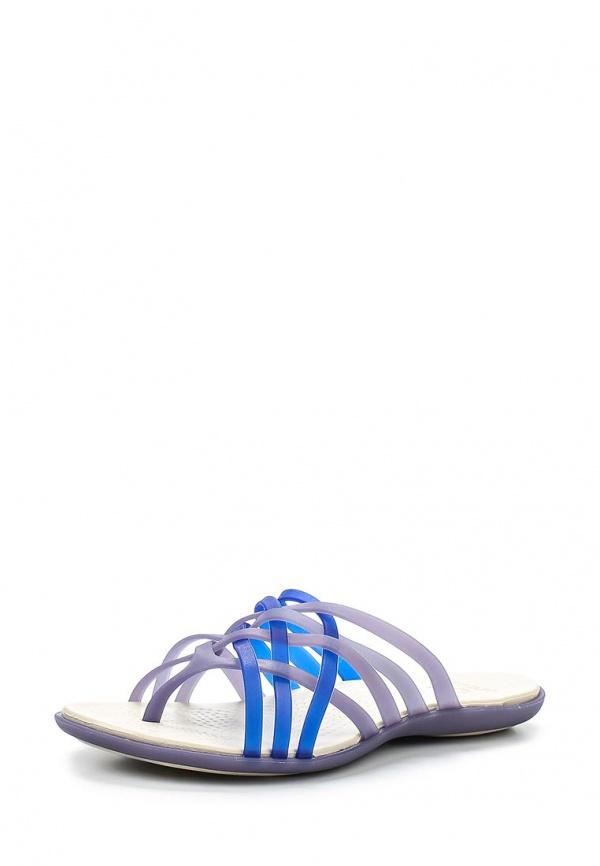 Сланцы Crocs 14122-4Q9 серые, синие