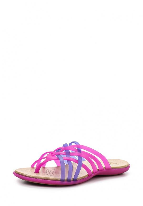 Сланцы Crocs 14122-59N розовые, фиолетовые