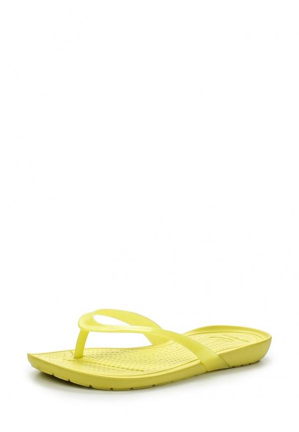 Сланцы Crocs 14174-3I0 жёлтые