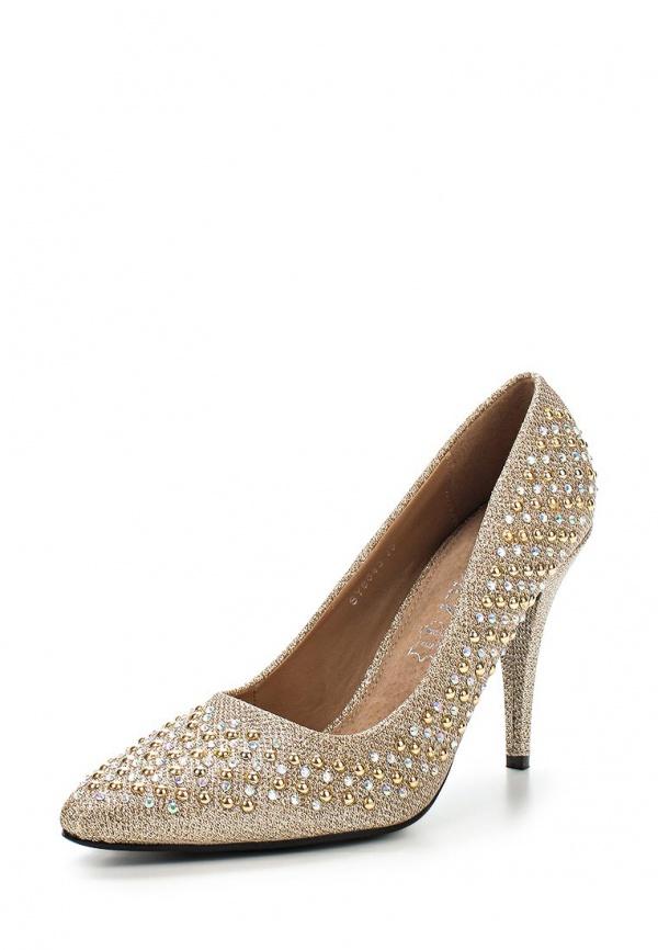 Туфли Exquily SY8043 золотистые