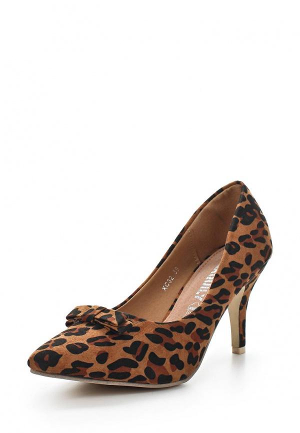 Туфли Exquily XC32 коричневые