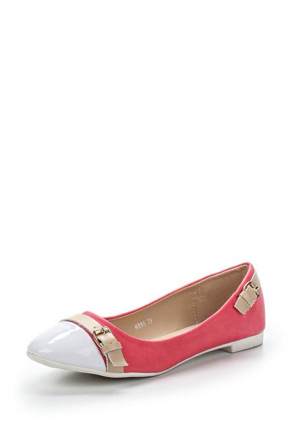 Балетки Exquily M888 белые, розовые