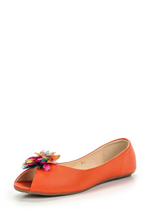 Балетки Inario 15015-01-7 оранжевые