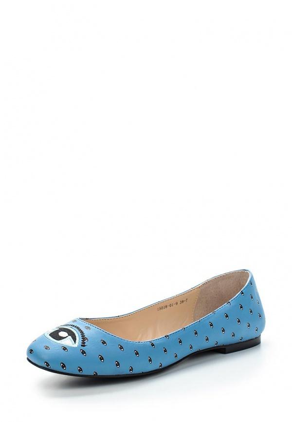 Балетки Inario 15018-01-9 голубые