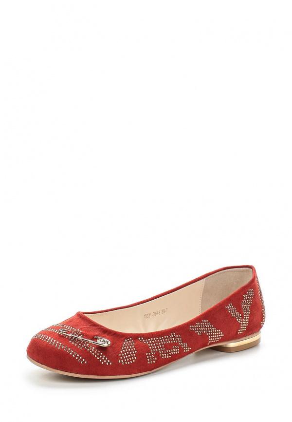 Балетки Inario 15021-08-48 красные