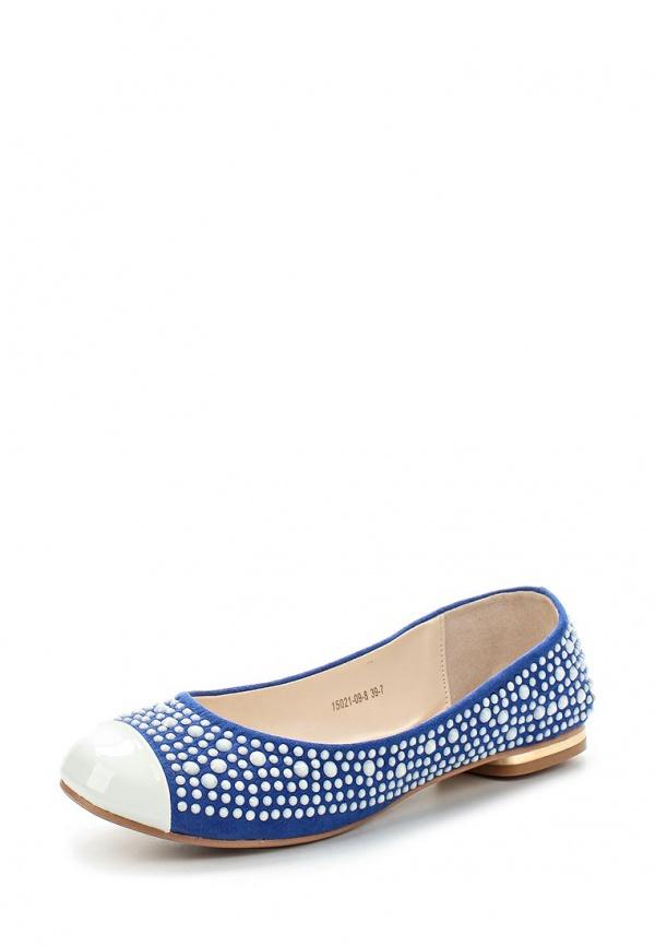 Балетки Inario 15021-09-8 белые, синие