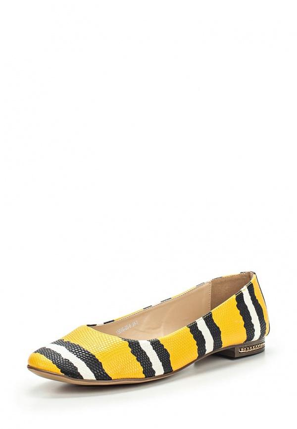 Балетки Inario 15046-05-6 жёлтые