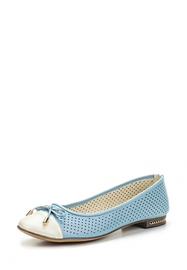 Балетки Inario 15046-06-9 голубые