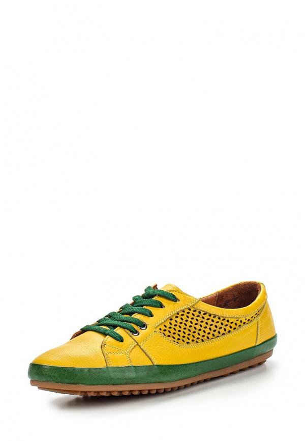 Полуботинки Inario 55220020 жёлтые