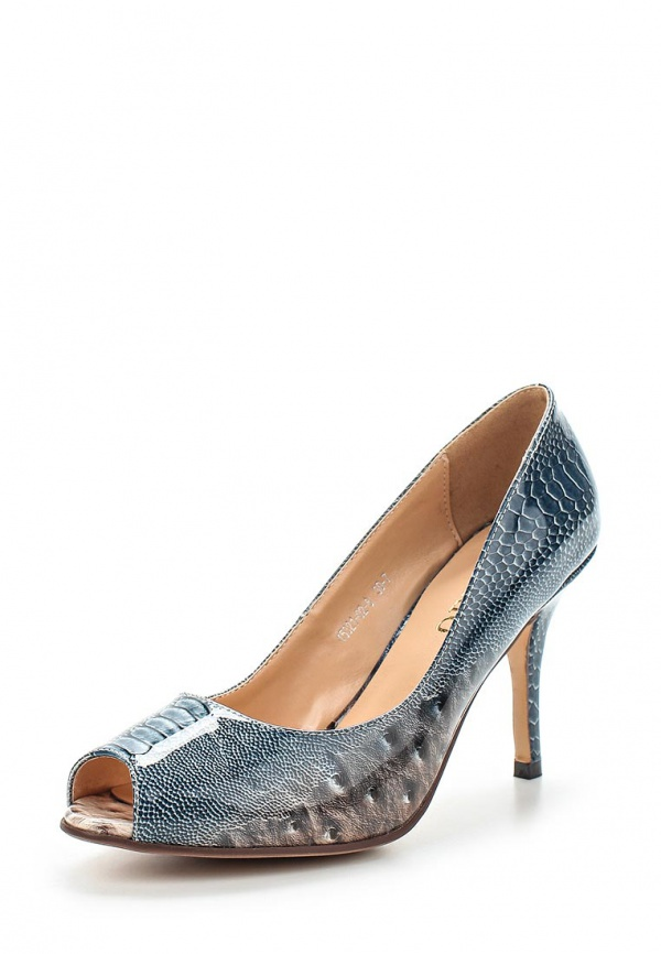 Туфли Inario 15321-02-8 голубые, серые