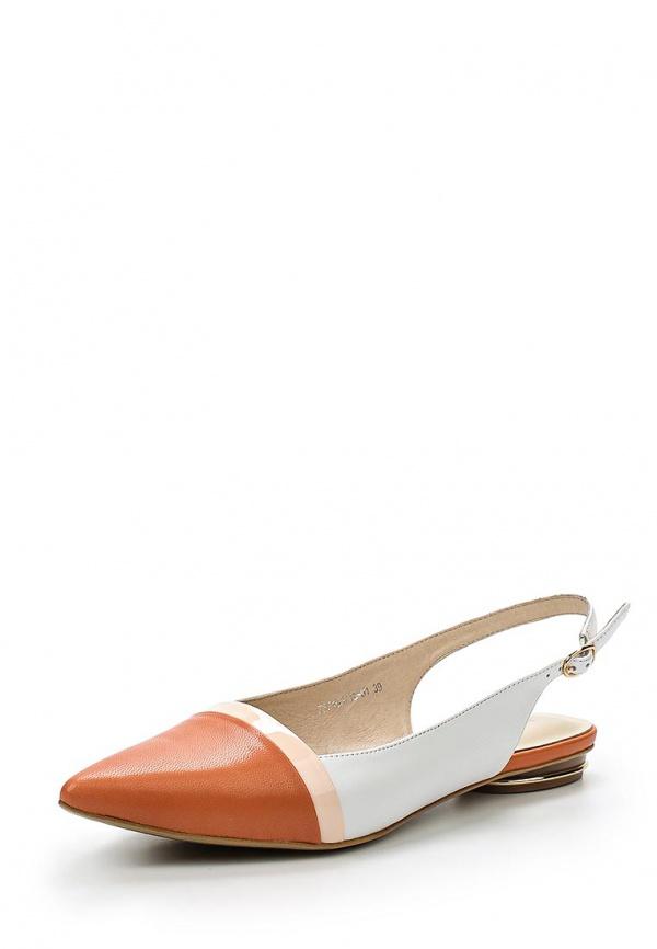 Туфли Laura Valorosa 757105/10-01 белые, оранжевые