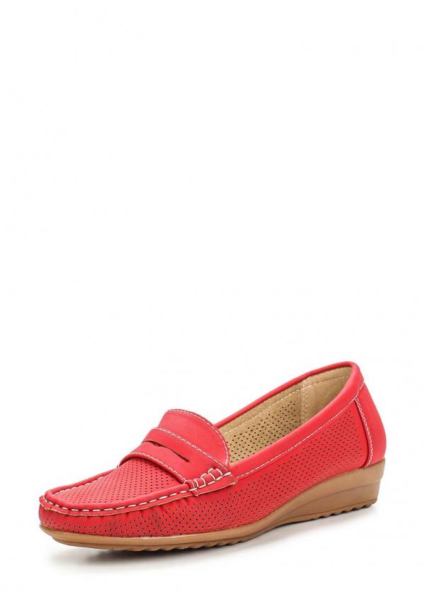 Мокасины Max Shoes 555-43 красные