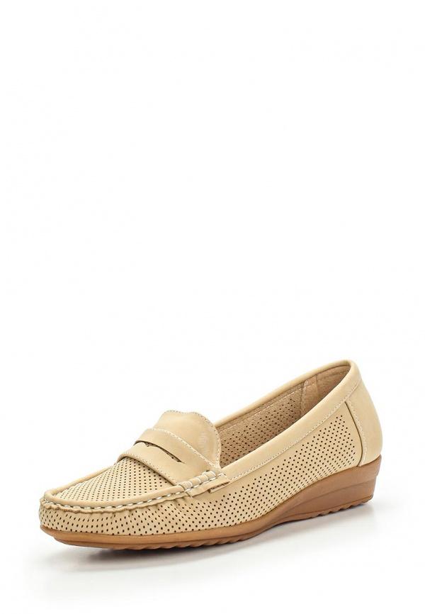 Мокасины Max Shoes 555-43 бежевые