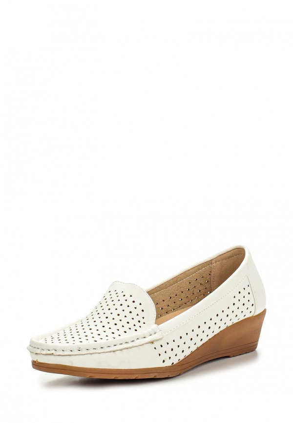 Мокасины Max Shoes 555-45 белые