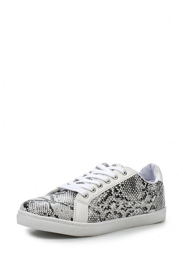 Кеды Max Shoes T01 белые, чёрные