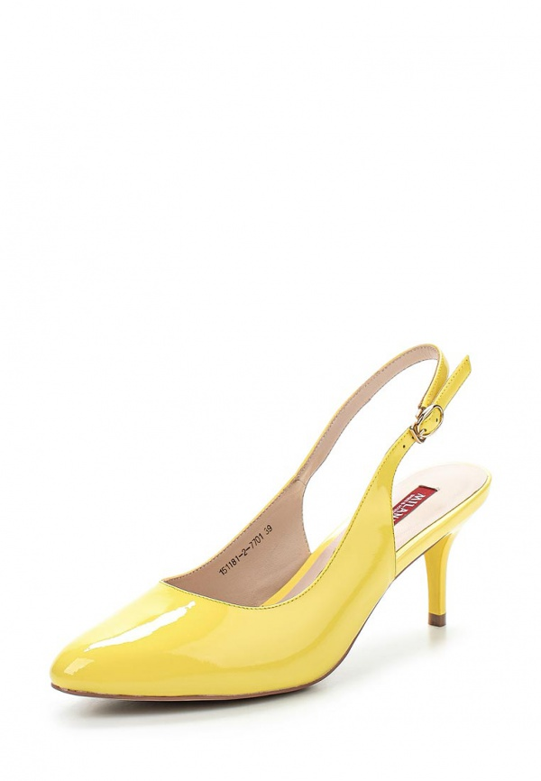Туфли Milana 151181-2-7701 жёлтые