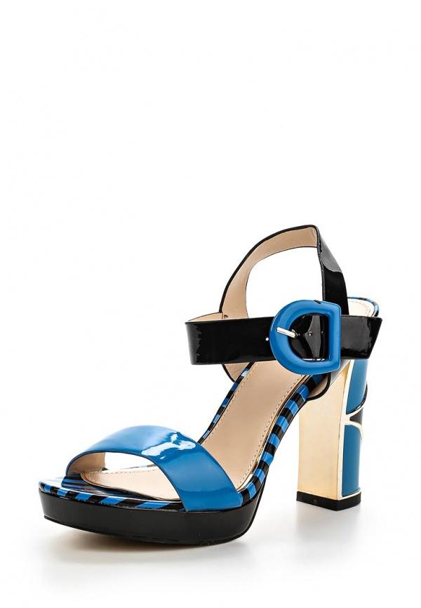 Босоножки Sergio Todzi E025 синие, чёрные