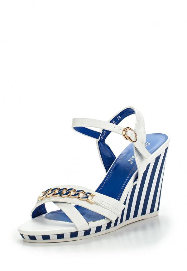 Босоножки Sergio Todzi E022 белые, синие