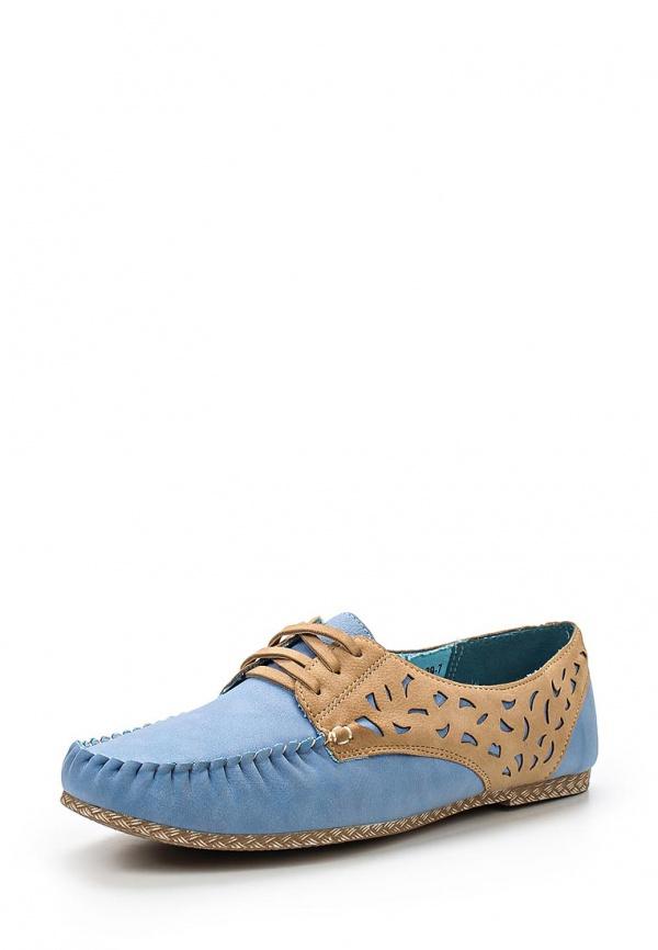 Мокасины Wilmar 51-R-BE-05 S голубые, коричневые