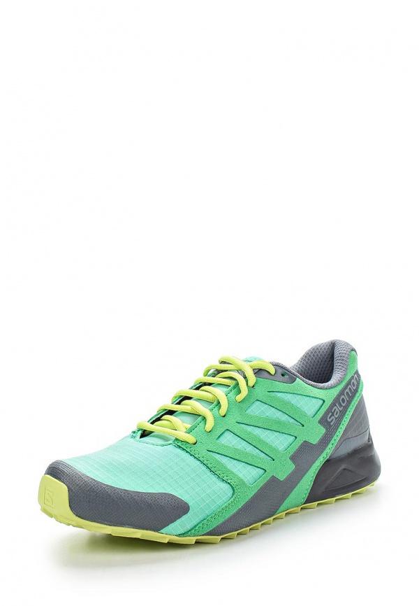 Кроссовки Salomon L37069500 зеленые, серые