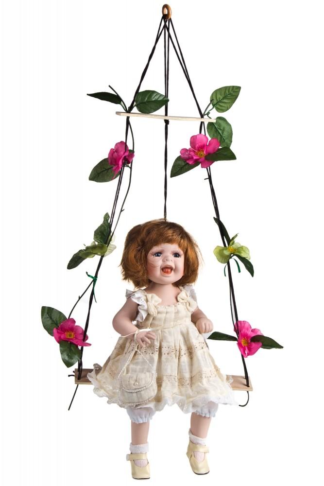 "Фарфоровые куклы Красный куб Кукла ""Хохотушка на качелях"""