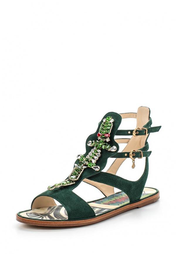 Сандалии Fabi FD3481 зеленые