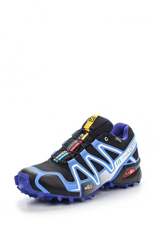 Кроссовки Salomon L36982500 фиолетовые, чёрные