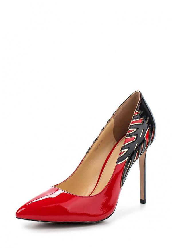 Туфли Vitacci 59856 красные, чёрные