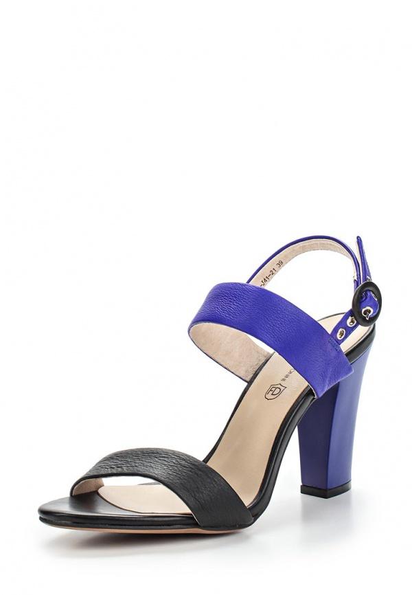 Босоножки Francesco Donni P515 115LA-J41-21C40 синие, чёрные